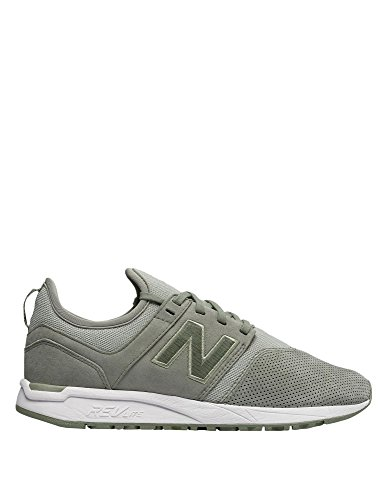 New Women's 247 Sneakers Balance Leather Green wPTx76wq