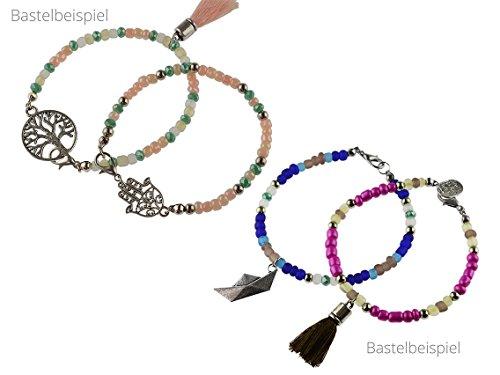Perlen Armband Set Zum DIY Schmuck Machen Von Vintageparts, über 1000 Teile  Mit Zangen: Amazon.de: Küche U0026 Haushalt