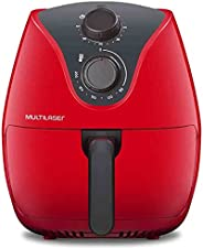 Fritadeira Elétrica Air Fryer 4L 220V 1500W com Grade Multilaser Vermelha - CE084