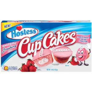 Hostess Chocolate Cup Cakes, Golden Cup Cakes & Strawberry Cup Cakes 1 box of each flavor 8 count (Pack of 3) by Hostess