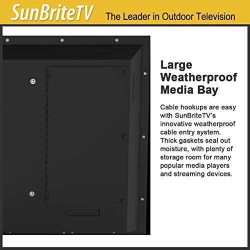 SunBriteTV 43-Inch Outdoor Television for Shade | Veranda (2nd Gen) 4K UHD HDR LED Outdoors TV - SB-V-43-4KHDR-BL Black