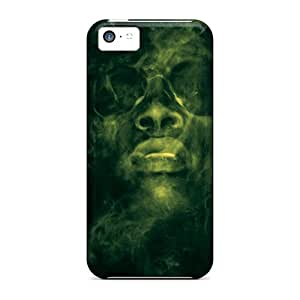 Shock Absorbent Hard Phone Cases For Iphone 5c With Unique Design Realistic Wiz Khalifa Pictures SherriFakhry