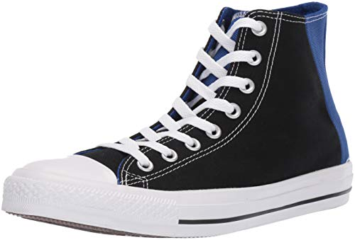 (Converse Men's Unisex Chuck Taylor All Star Colorblock High Top Sneaker, Black/Blue/White 9 M US)