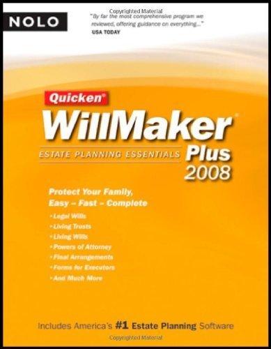 Quicken Willmaker Plus 2008 Edition: Estate Planning Essentials (Book with...