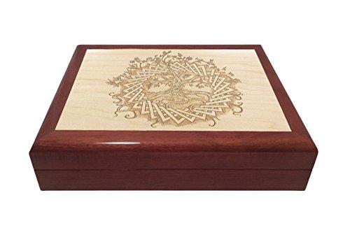 Celtic Tree of Life Engraved Wooden Keepsake Box