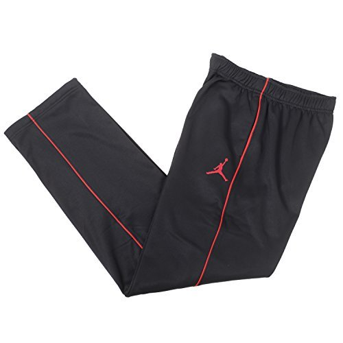 Nike Jordan Big Boys Therma-fit Jumpman Athletic Track Pants (M(10-12YRS), Black/Red) (Track Pant Nike)