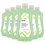 Amazon Brand - Solimo Gentle & Mild Fresh Pear Antibacterial Foaming Hand Soap Refill, 32 Fluid Ounce (Pack of 6)