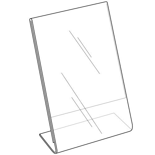 Clear-Ad - LHA-46 - Acrylic Slanted Sign Holder 4x6 - Plexiglass Table Menu Card Display Stand - Plastic Picture Frame Wholesale (Pack of 100) by Clear-Ad (Image #1)