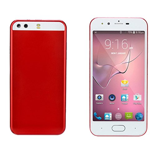 Retro spare machine 5.0 inch Dual HDCamera Smartphone Android GSM/WCDMA 4GB WIFI Bluetooth GPS 3G Call Unlocked Mobile Phone (Red)