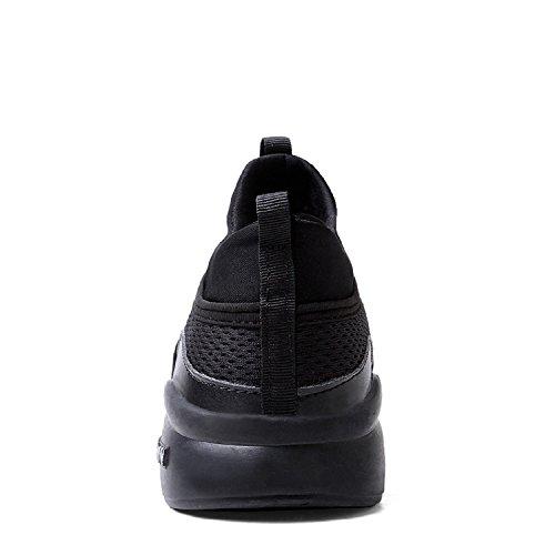 LILY999 Mixte adulte Respirant Mesh Casual Chaussures de Sport,Chaussures de Course Sports Fitness Gym athlétique Baskets Sneakers Noir