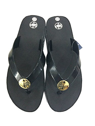Sandals Black Mid Flip Black Heels Slippers Slip Flop Women's or 24P On Comfortable Navy Everyday ACwgRU4xEq