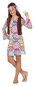 Atosa-20687 Disfraz Hippie Multicolor, 10 a 12 años (20687
