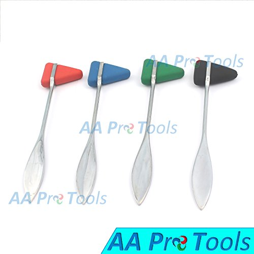 AA PRO 4 ASSORTED TAYLOR TOMAHAWK REFLEX HAMMER FOR NEUROLOGICAL EXAMINATION A+ QUALITY