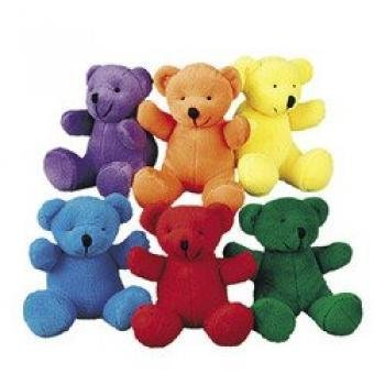 Review Fun Express Primary Plush Bears (1 Dozen)