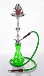 "1 hose 23"" Arabic Green Hookah Shisha Nargila water glass vase pipes smoke sale"