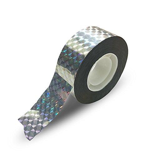 Scare Tape (KINGLAKE 295 FT Bird Repellent Scare Tape,Holographic Eco-friendly Bird Scare Ribbon,Reflective Flash Bird Deterrent Tape,Scare Away Birds,Eliminate Birds Destroying Crops)