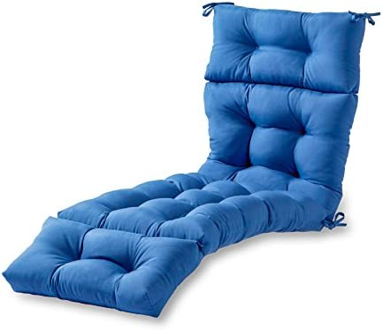 Greendale Home Fashions 72-Inch Indoor Outdoor Chaise Lounger Cushion, Marine Blue