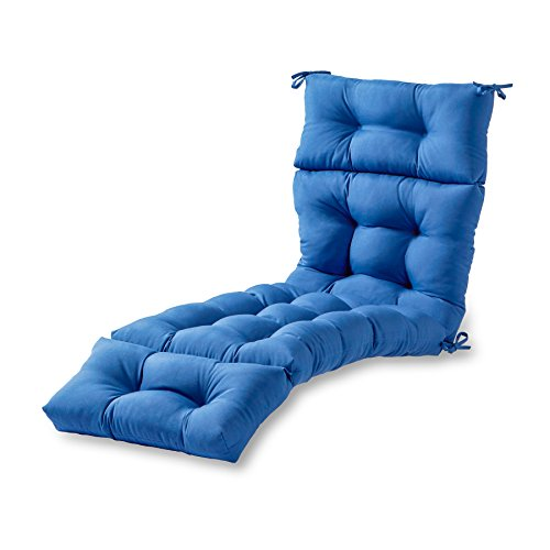 (Greendale Home Fashions 72-Inch Indoor/Outdoor Chaise Lounger Cushion, Marine Blue )