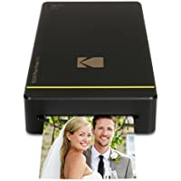 Kodak Mini Portable Mobile Instant Photo Printer - Wi-Fi & NFC Compatible - Wirelessly Prints 2.1 x 3.4 Images, Advanced DyeSub Printing Technology (Black) Compatible with Android & iOS
