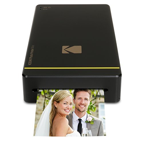 Kodak Mini Portable Mobile Photo Printer – Wi-Fi & NFC Compatible – Prints 2.1 x 3.4″ Images, Advanced DyeSub Printing Technology (Black) Compatible with Android & iOS
