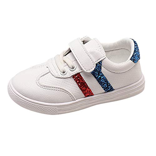 PENGYGY Kid Sneakers for 3-12 Years Old,Boy Girl Children Striped Bling Leather Sport Running Shoes Outdoor Casual Shoes by Pengy--Shoes