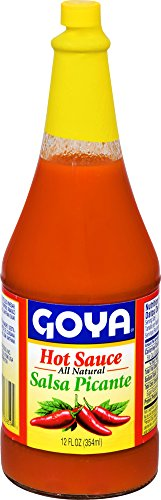 Hot Picante Salsa Sauce - Goya Salsa Picante Regular Hot Sauce, 12 oz
