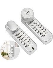 Outdoor Door Lock,Double‑Sided Mechanical Password Lock with Keys Courtyard Door Coded Lock Home Supplies