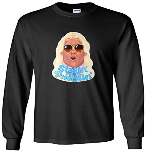 The Silo LONG SLEEVE BLACK Ric Flair Stylin and Profilin WWF T-Shirt YOUTH by The Silo