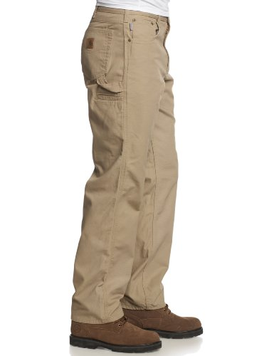 Carhartt Men's Loose Fit Five Pocket Canvas Cleaning Pant-Beige Side