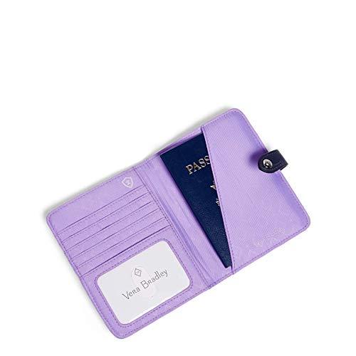 41rc3WWm5BL - Vera Bradley Midtown RFID Passport Wallet, Dandelion Wishes