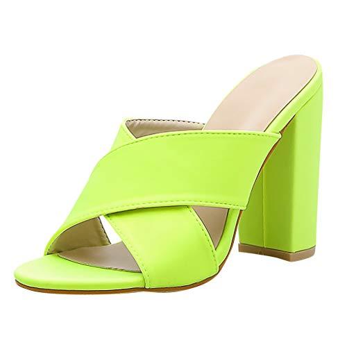 - Yucode Women Open Toe Criss Cross Platform Slippers Shoes Comfort Slingback Walking Sandals Beach Party Shoes Green
