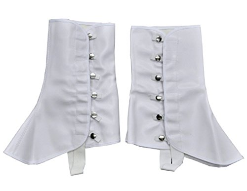 Spats 9In High Vinyl Sm Md White Costume Item ()