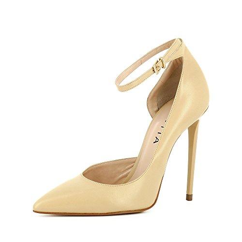 Evita Shoes Lisa Escarpins Femme Semi-Ouverts Cuir Lisse Beige