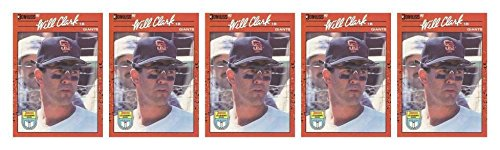 (5) 1990 Donruss Learning Series #23 Will Clark Baseball Card Lot Giants (1990 Learning Series)