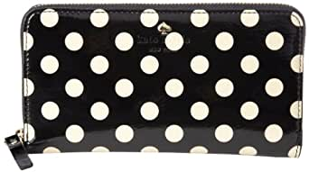 Kate Spade New York Carlisle Street Lacey Wallet,Black/Beige,One Size