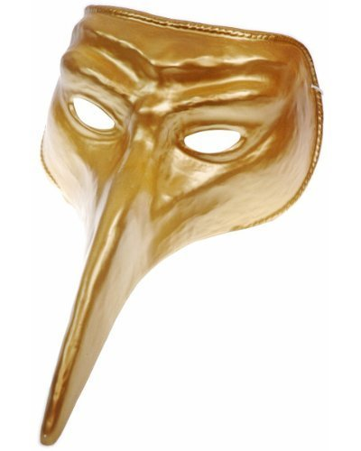 Disguise Costumes Gold Venetian Mask, Adult Day Venetian Mask