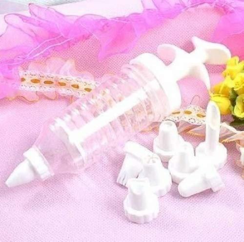 Cake Decorating Icing Piping Syringe Tool + 8 Nozzles Doyeemei