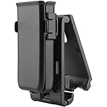 Cytac Tactical Single Magazine Pouch, Universal Mag Holder with Belt Clip Fits Glock Ruger Sig Sauer Kahr Beretta 1911 Most Pistol Magazines