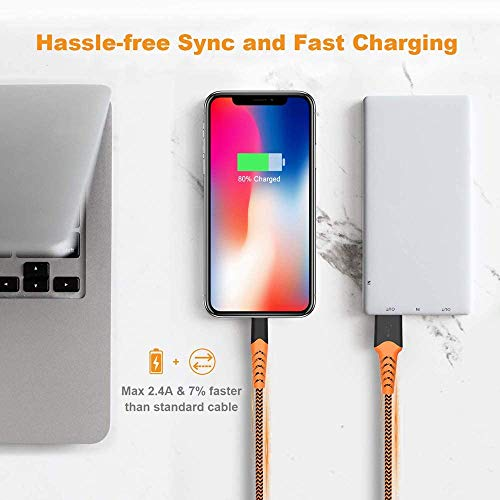 iPhone Charger, Haribol iPhone Lightning Cable Apple MFi Certified 4Pack[ 3.3FT 6.6FT 10FT] Nylon Braided Charging Cable for iPhone Xs/Max/XR/X/8/8Plus/7/7Plus/6S/6S...