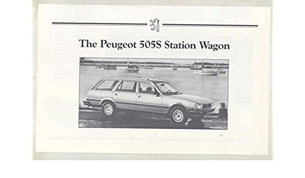 Amazon.com: 1983 Peugeot US 505S Station Wagon Brochure: Entertainment Collectibles