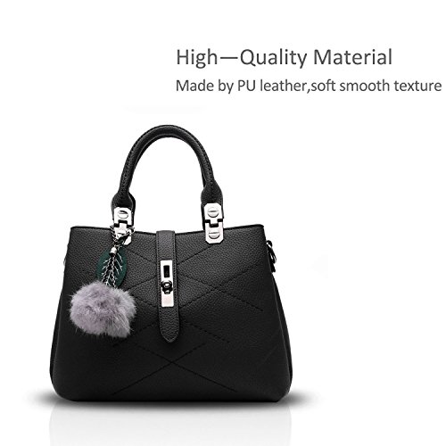 Grey Bag with Designer body Best 1 Ladies Leather Handle Vintage Bow Handbags For Cross Handbag Women The zBZvqww