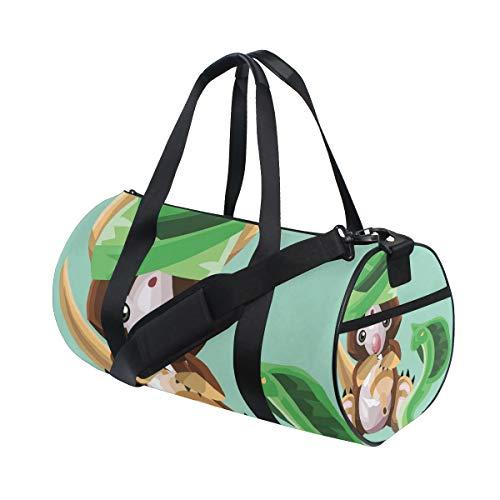 Duffel Bag Koala As Snake Charmer Women Garment Gym Tote Bag Best Sports Bag for Boys ()