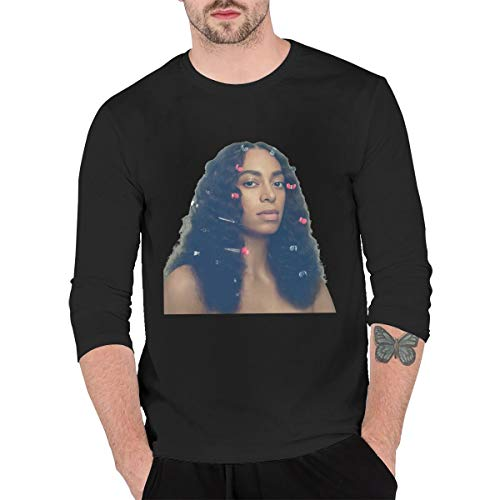 KaceO Men's Solange A Seat at The Table Long Sleeve T-Shirt Black L
