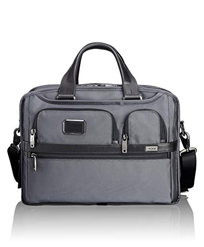 TUMI - Alpha 2 Expandable Organizer Laptop Brief Briefcase - Pewter
