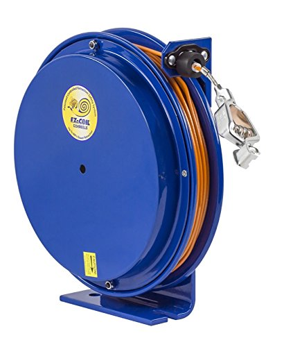 Coxreels EZ-SD-50 Safety Series Spring Rewind Static Discharge Cord Reel: 50' cord