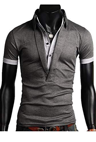 Heaven Days(ヘブンデイズ)大人のラフスタイル メンズ ポロシャツ 半袖 重ね着風 ゴルフシャツ ゴルフウェア 快適 着心地 カジュアル ファッション 16060315