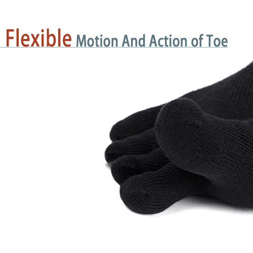 Mens No Show Toe Socks 6 Pairs Original Weight Low Cut Running Toe Socks 8-10.5 by AMAREY (Image #4)