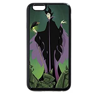 """Customized Black Soft Rubber(TPU) Disney Sleeping Beauty Maleficent iPhone Case, Only fit iphone 5 5s """""""