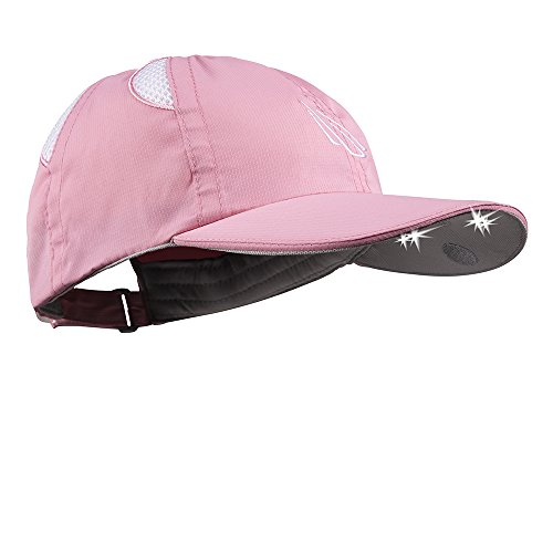 Panther Vision POWERCAP Rip Stop LED Hat 25/10 Ultra-Bright Hands Free Lighted Battery Powered Headlamp - Pink Unstructured Nylon (CUB4-282500)]()