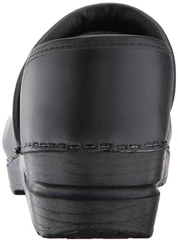 Sanita Professional Patent 457406W-4 - Zuecos de cuero para mujer Negro